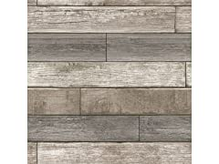 Reclaimed Wood Plank Natural Peel & Stick Wallpaper