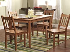 5PC Bamboo Dining Set - Natural