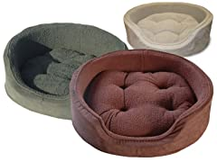 Snuggle Terry & Suede Bed- 4 Colors, 3 Sizes