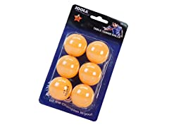Joola Orange 3-Star Tabletennis Ball 6pk