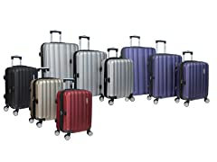World Traveler Adventure 3-pc Luggage, 5 Colors