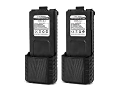 Baofeng BL-5 3800mAh Extended Battery 2 Pack