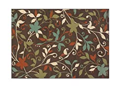 Monte Carlo Brown/Green Rug-8 Sizes
