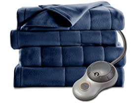 Sunbeam Quilted Fleece Heated Blanket