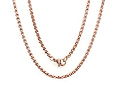 18kt Rose Gold Plated Box Chain Necklace