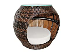 Rattan Pet Igloo Bed