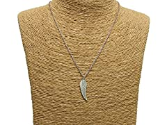 Urban Wing Of Redemption Charm Necklace