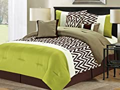 7-Pc Bentley Comforter Set- Sage (Multiple Sizes)