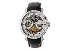 Heritor Automatic Aries Leather Watch