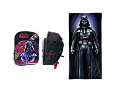 Darth Vader Backpack & Beach Towel Bundle