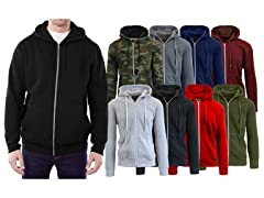 Men's 2-Pack Assorted Fleece Zip Hoodie