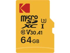 Kodak microSDXC 64GB UHS-I U3 Memory w/Adapter