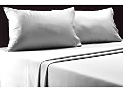 650TC 6-Piece Sheet Set-White-2 Sizes