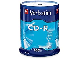 Verbatim CD-R 700MB 80 Minute 52x Recordable Disc