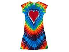 Womens A-Line Dress - Rainbow Heart (S-XL)