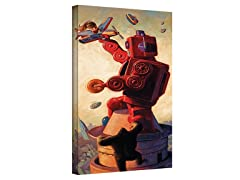 Eric Joyner Robokong Wrapped Canvas Art