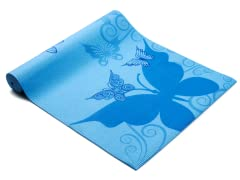 Turquoise Butterfly Yoga Mat
