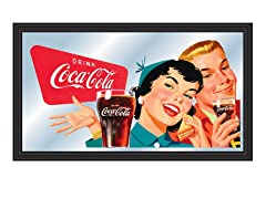 Vintage Mirror Couple Enjoying Coke®