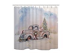 KOTOM New Year Decor Shower Curtain