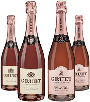 4-Pack Gruet Sparkling Rose Mixed Wine