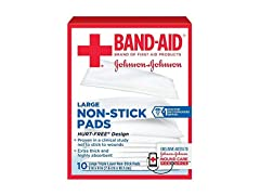 Bandaid First Aid 3X4 in Nonstick Pads