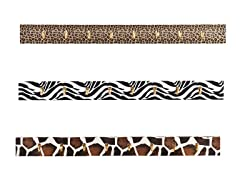 Barbosa Wall Hook 3pc System - Animal Print