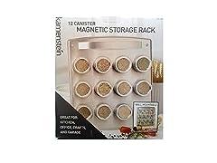 Kamenstein 12 Canister Magnetic Storage Rack