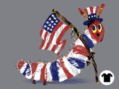 The Very Patriotic Caterpillar