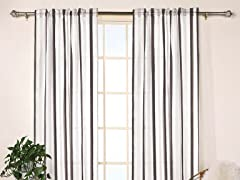 Miley Stripe Sheer Panels - Set of 2 - 4 Colors