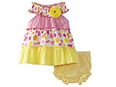 Floral U Neck Dress (Sizes 3-9M)
