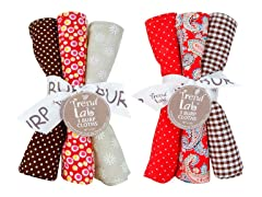 6-Piece Burp Cloth Set - Chocolate Kiss