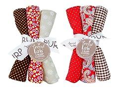 6-Piece Burp Cloth Set - Chocolate Kiss