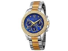 August Steiner Women's Swiss Quartz Diamond Blue Watch