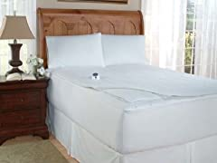 Removable Top Stripe Warming Mattress Pad