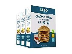Keto Cracker Thins Salt and Vinegar
