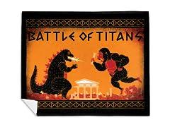 Battle of Titans Mink Fleece Blanket