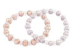 Fancy Double Pearl Elastic Bracelets