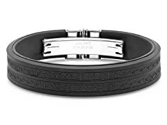 Men's Rubber Bracelet with Greek Key