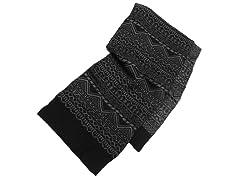 MUK LUKS® Pattern Scarf, Black