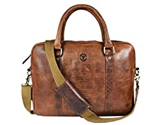 Aaron Leather 15-Inch Leather Messenger Bag
