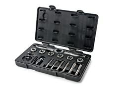 17-Piece Ratcheting Tap & Die Metric Set