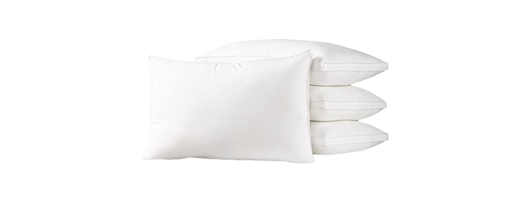 4-Pack Exquisite Hotel Collection Pillows-Soft or Firm-3 Sizes