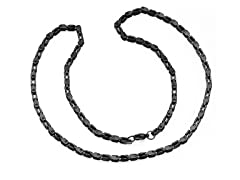 "Stainless Steel Black IP 24"" Chain"