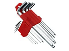 9-Piece Allen Wrench Hex Set Ball Head