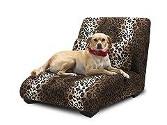 Elliot Chaise Pet Bed - Leopard