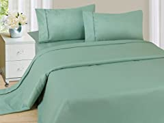 Lavish Home Sheet Set - Sage - 4 Sizes