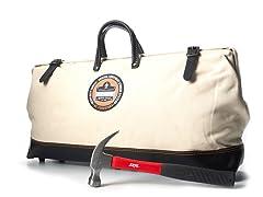 Canvas Long PVC Bottom Bag