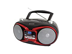 SuperSonic SC-504 RED Portable MP3 & Cd…