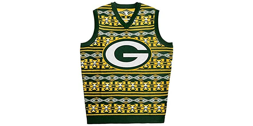 8c5d4576 FOCO Green Bay Packers Sweater Vest, MED