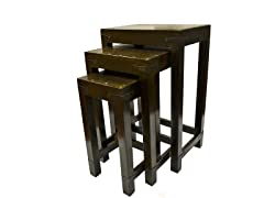 Wood Nesting Table Set of 3